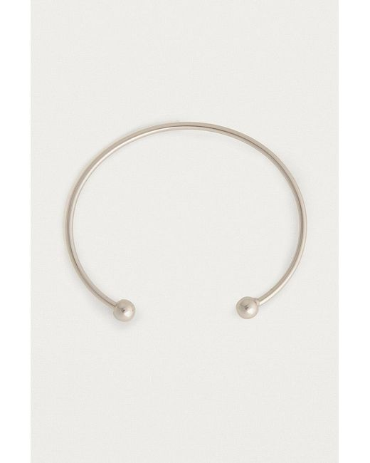 Urban Outfitters - Metallic Clean Ball Cuff Bracelet - Lyst