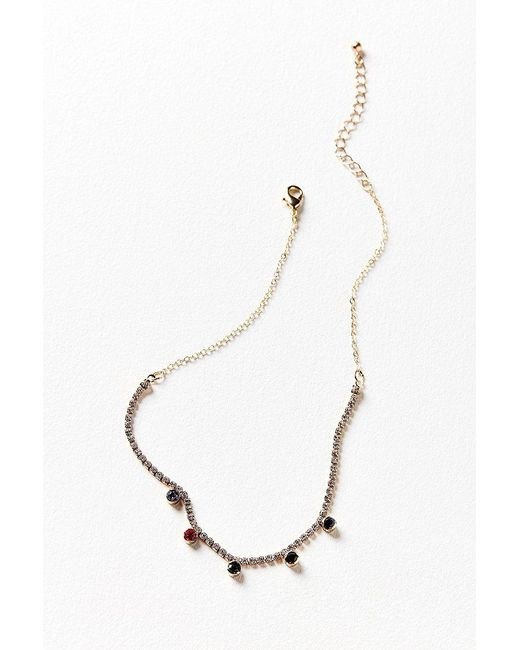 Urban Outfitters | Metallic In The Spotlight Rhinestone Necklace | Lyst