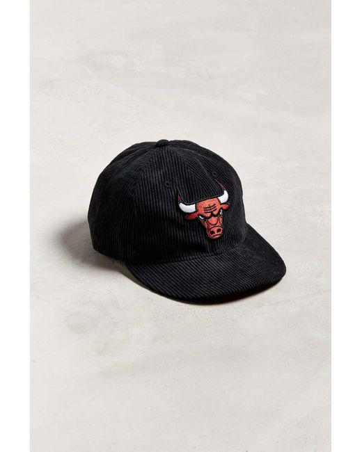 check out 676c6 ac2de KTZ - Black Chicago Bulls Retro Corduroy Snapback Hat for Men - Lyst ...