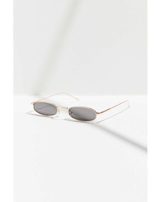 2c970d8f6d ... Urban Outfitters - Metallic Super Slim Metal Sunglasses - Lyst ...