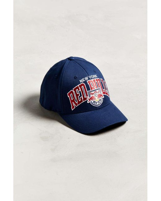 3f5a0dc85e5 Mitchell   Ness - Black New York Red Bulls Flex Fit Baseball Hat for Men ...