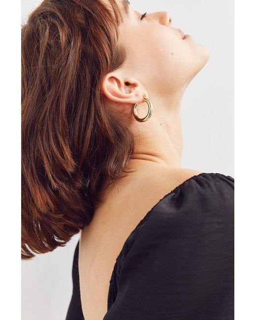 Urban Outfitters | Metallic Hollow Hoop Earring | Lyst