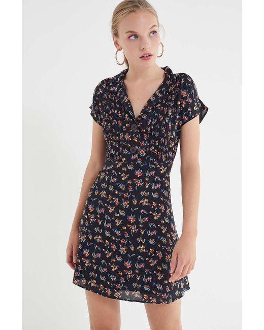 Urban Outfitters - Multicolor Uo Nancy Short Sleeve Shirt Dress - Lyst
