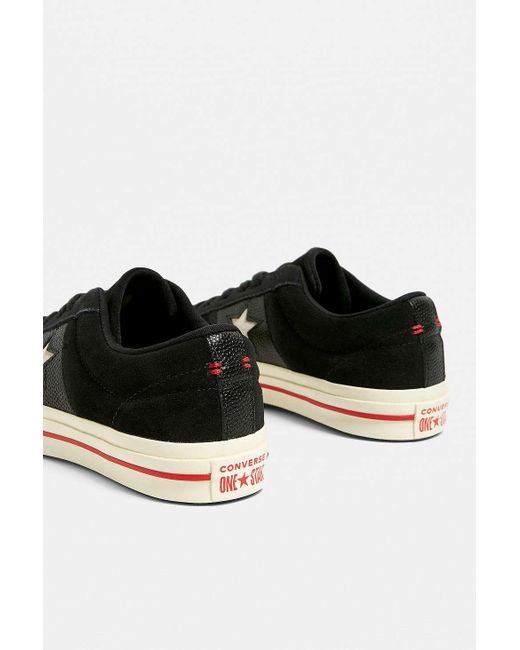 cd877438db67 ... Converse - One Star Black + Red Trainers - Womens Uk 6 - Lyst ...