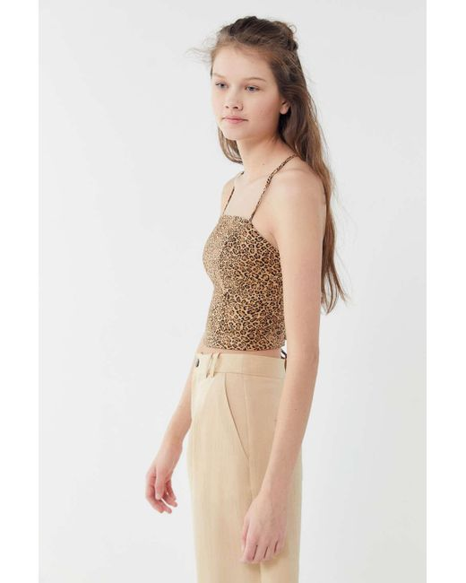 ae6ba5327 ... Urban Outfitters - Natural Uo Cardi Linen Strappy Tie-back Cropped Top  - Lyst ...