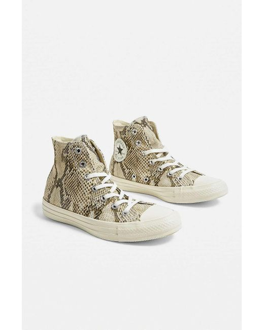 59882ff419a7 Converse - Black Chuck Taylor All Star Snake Print High Top Trainers - Lyst  ...