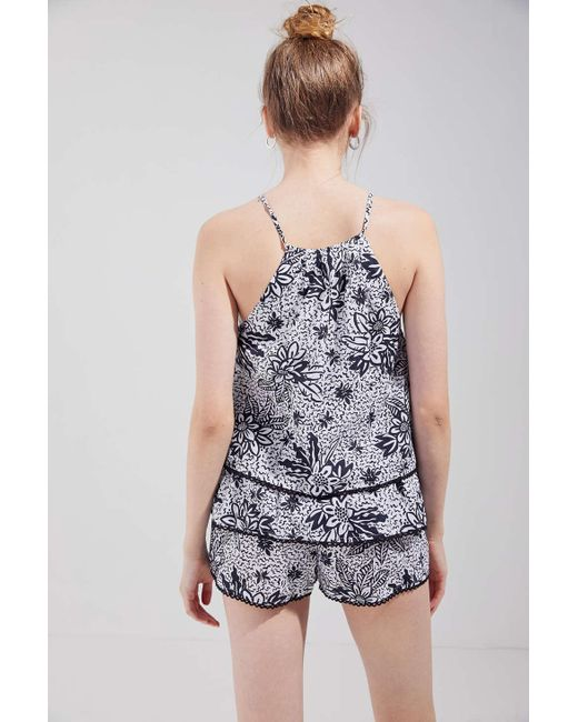 76fd4ef218a ... Urban Outfitters - Black Uo Kendal Keyhole Cutout Tiered Romper - Lyst  ...