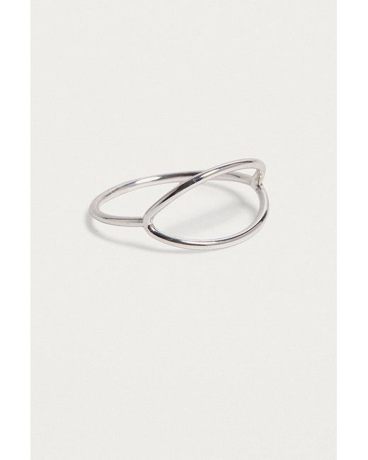 Urban Outfitters | Metallic Premium Open Oval Ring | Lyst
