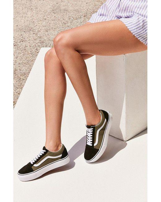 Vans | Green Old Skool Platform Sneaker | Lyst