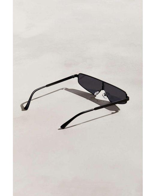 57850ecc2b ... Urban Outfitters - Black Narrow Mod Visor Sunglasses for Men - Lyst ...