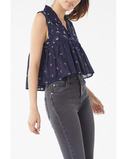 Urban Outfitters - Blue Uo Alexia Ruffle Tank Top - Lyst