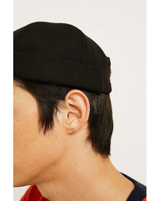 ... Urban Outfitters - Uo Black Melton Docker Cap - Mens All for Men - Lyst  ... 3a7c2fef7b9