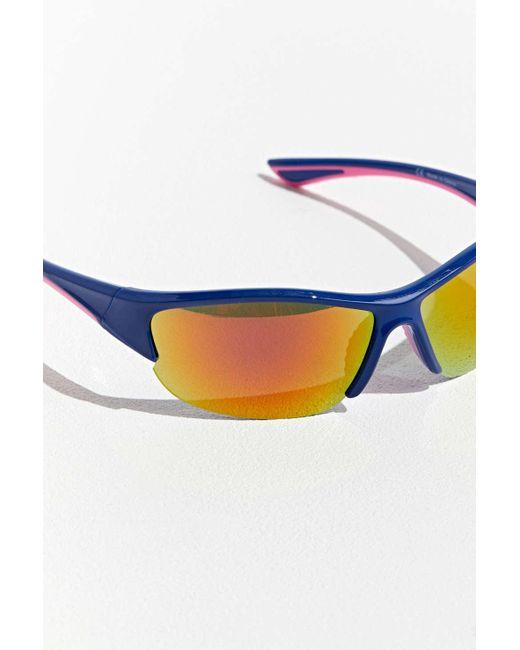 2ccb5260d8 ... Urban Outfitters - Black Uo Sport Visor Runner Sunglasses for Men - Lyst  ...