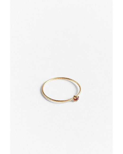 Urban Outfitters - Red 18k Gold Delicate Pinky Ring - Lyst