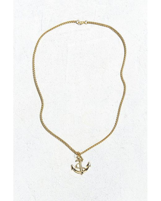 Lyst urban outfitters uo gold anchor pendant necklace in metallic urban outfitters metallic uo gold anchor pendant necklace lyst aloadofball Choice Image