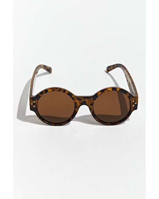 Brown Men's Round Plastic Thick Sunglasses 0Ok8nwPX