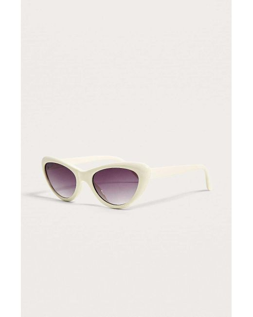 73c2c6503f ... Urban Outfitters - White Extreme Cat Eye Sunglasses - Womens All - Lyst  ...