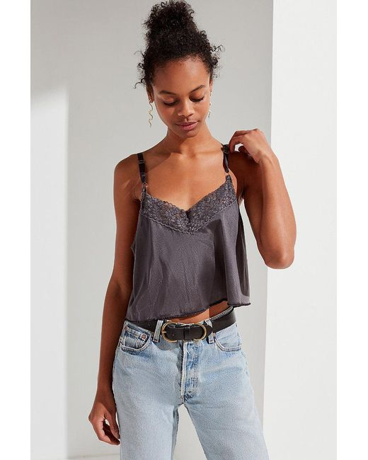 Urban Outfitters - Gray Urban Renewal Recycled Slip Cami - Lyst