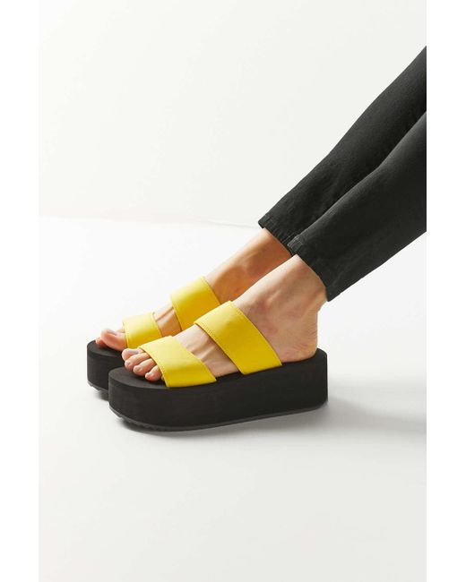 44162506d15 Urban Outfitters - Multicolor Uo Ava Neoprene Platform Sandal - Lyst ...