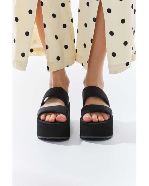 347117af9e9 ... Urban Outfitters - Black Uo Ava Neoprene Platform Sandal - Lyst ...