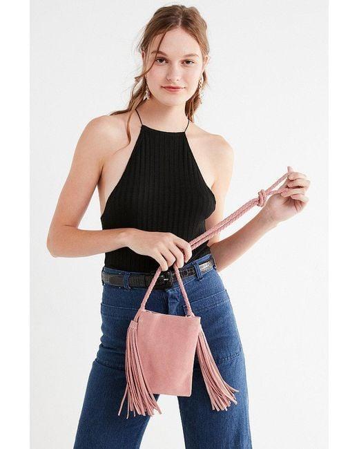 Urban Outfitters   Pink Tassel Fringe Mini Crossbody Bag   Lyst