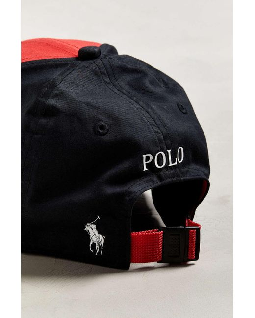 a6462531a60 ... Polo Ralph Lauren - Red P-wing Classic Sport Baseball Hat for Men - Lyst  ...
