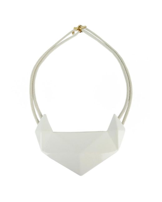 Marion Vidal | White And Sand Ceramic Pendant | Lyst