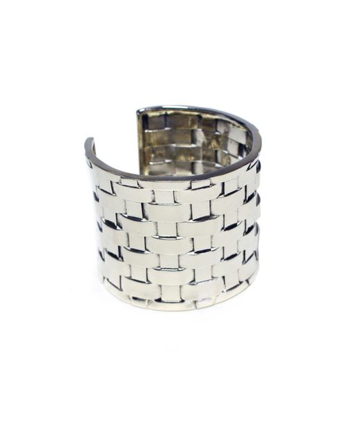Anndra Neen | White Thatched Cuff | Lyst