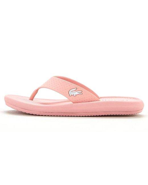 5fa469fe0 ... Lacoste - Pink Croco Sandal 219 1 Cfa - Lyst