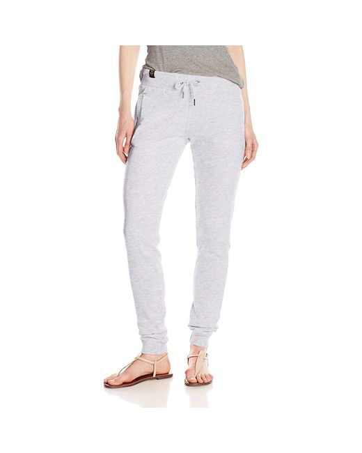 Superdry White O L Luxe Lite Edition Slim Jogger