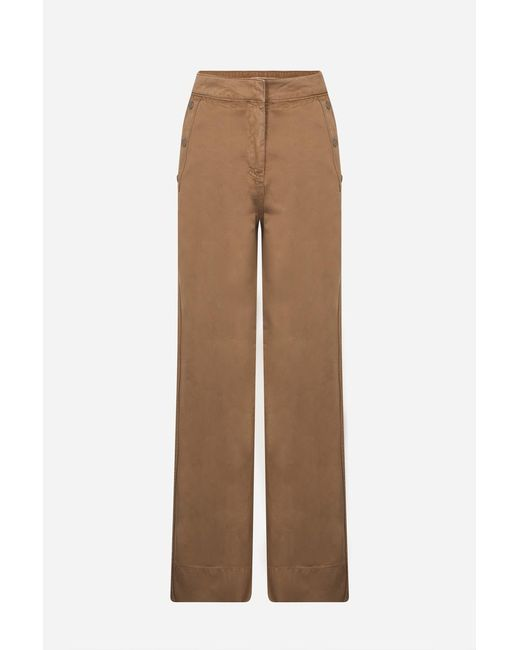 Vanessa Bruno | Natural Compact Cotton Gabardine Hadrian Flare Mom Jeans | Lyst