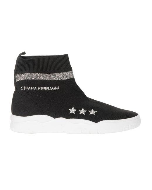 Chiara Ferragni - Black Polyester Ankle Boots - Lyst