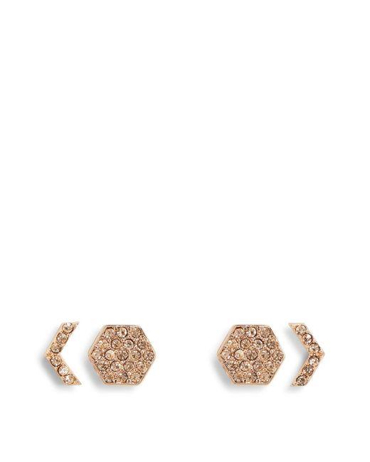 Vera Bradley   Multicolor Whisper Links Hexagon Stud Earrings   Lyst