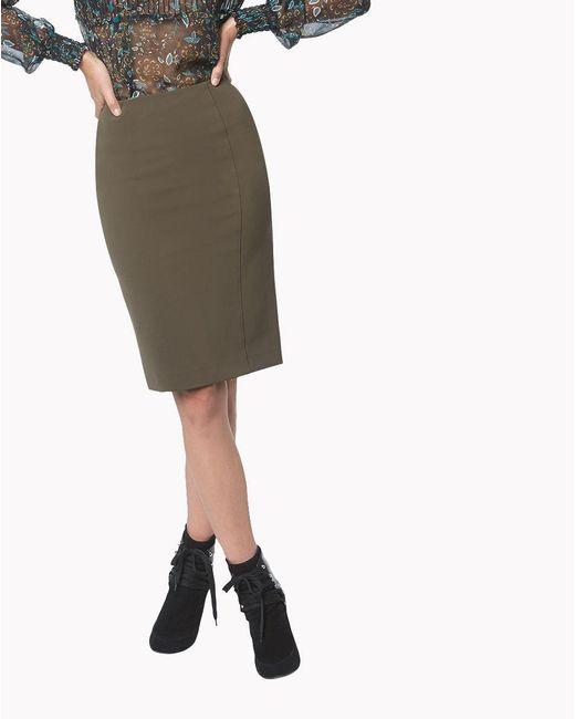 Veronica Beard - Green Scuba Pencil Skirt - Lyst