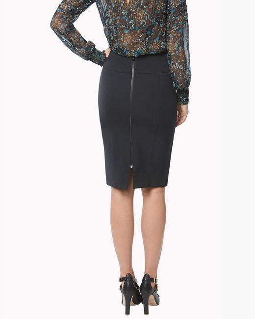Veronica Beard - Black Scuba Pencil Skirt - Lyst