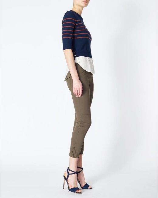 Veronica Beard | Blue Knot Combo Sweater | Lyst