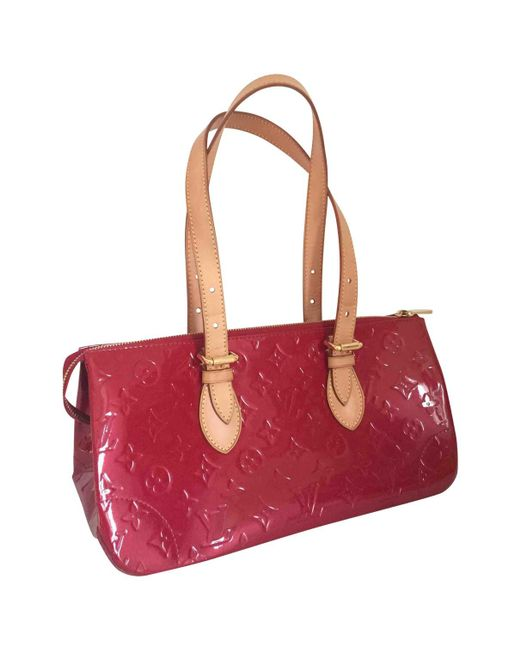 Louis Vuitton - Pre-owned Red Leather Handbag - Lyst