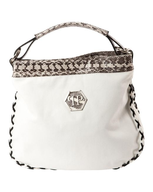 Philipp Plein - Pre-owned White Cloth Handbags - Lyst
