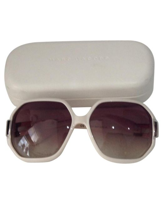 Marc By Marc Jacobs - Natural Pre-owned Beige Plastic Sunglasses - Lyst