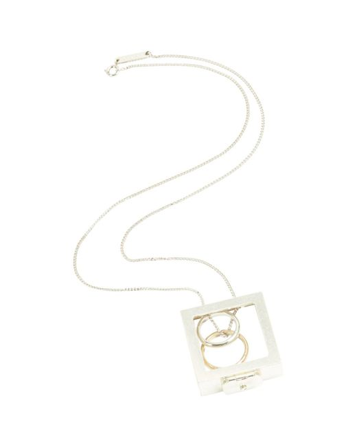Maison Margiela - Metallic Silver Steel Necklace - Lyst