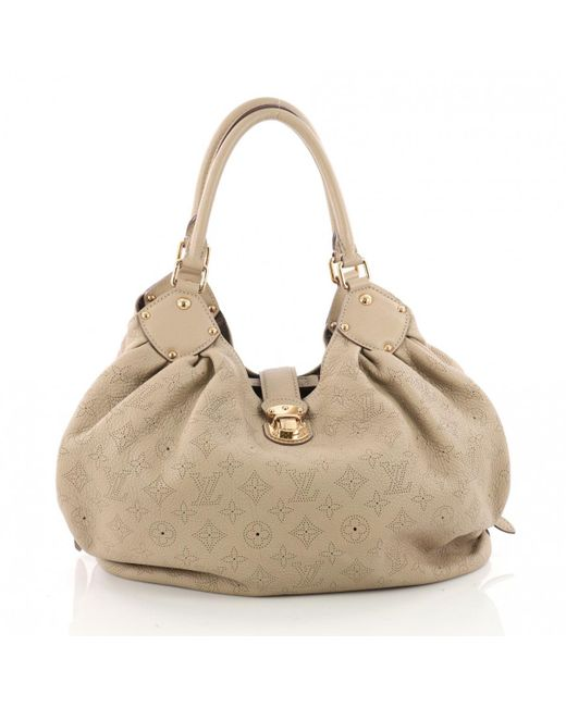 Louis Vuitton - Gray Mahina Leather Handbag - Lyst
