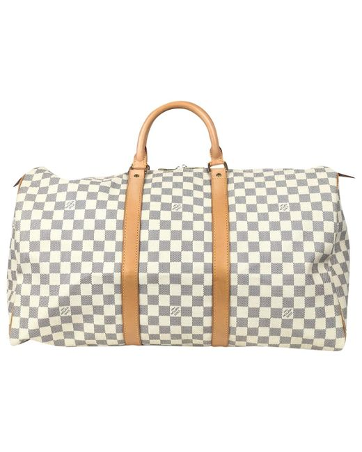 Louis Vuitton Keepall Cloth Weekend Bag in Gray for Men - Lyst db088fdf3ab21