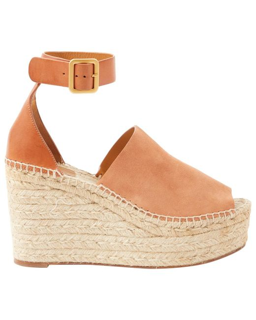 Chloé - Natural Pre-owned Sandal - Lyst