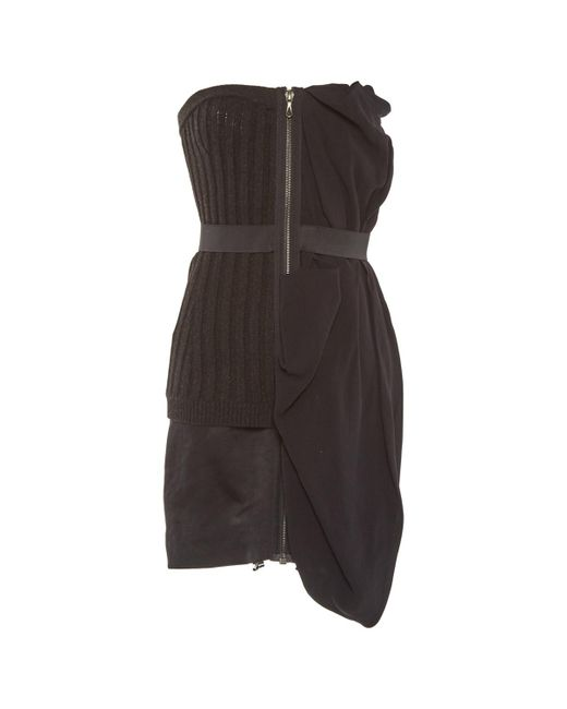 Lanvin - Multicolor Pre-owned Anthracite Wool Dresses - Lyst