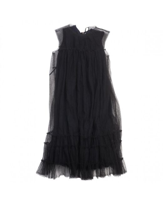 Lanvin - Black Wool Dress - Lyst