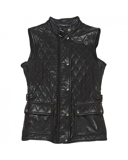 Belstaff - Black Pre-owned Leather Jacket - Lyst