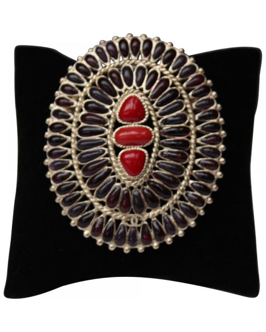 Chanel - Red Pin & Brooche - Lyst