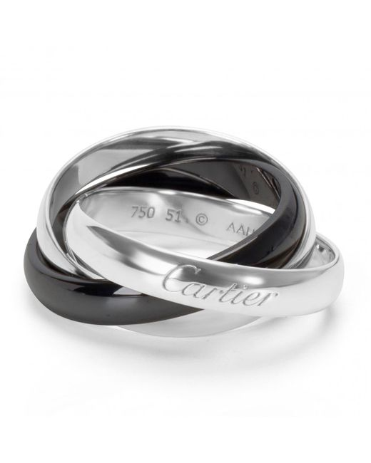 Cartier - Metallic Trinity White Gold Ring - Lyst