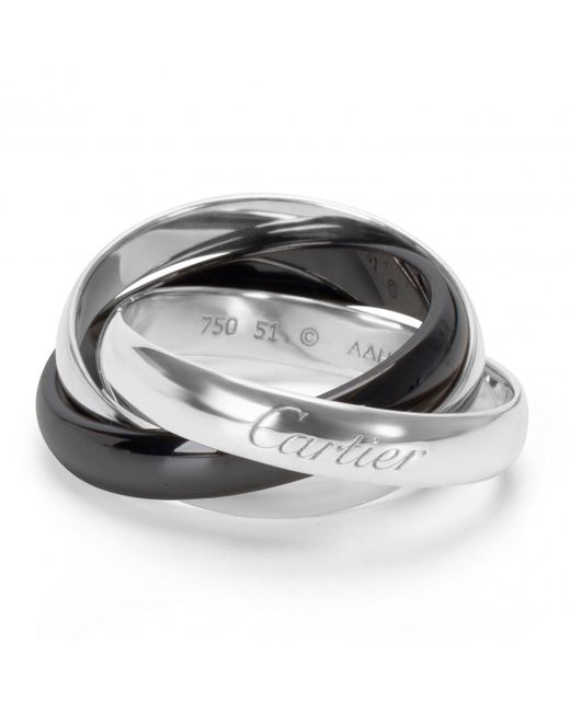 Cartier - Metallic Trinity Other White Gold Ring - Lyst