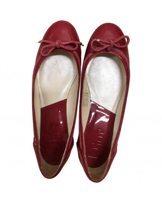 Dior - Pink Patent Leather Ballet Flats - Lyst
